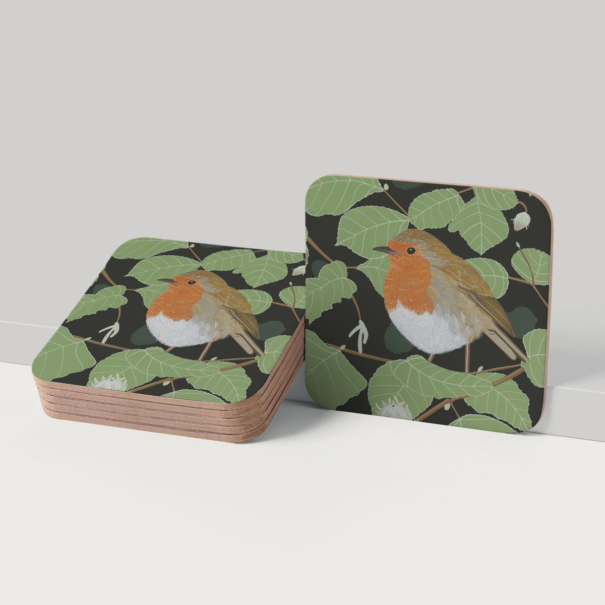 Robin Tit Bird Placemat And Coaster Tableware