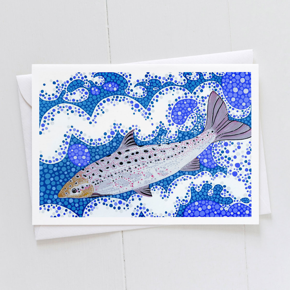Salmon Fish Greeting Card