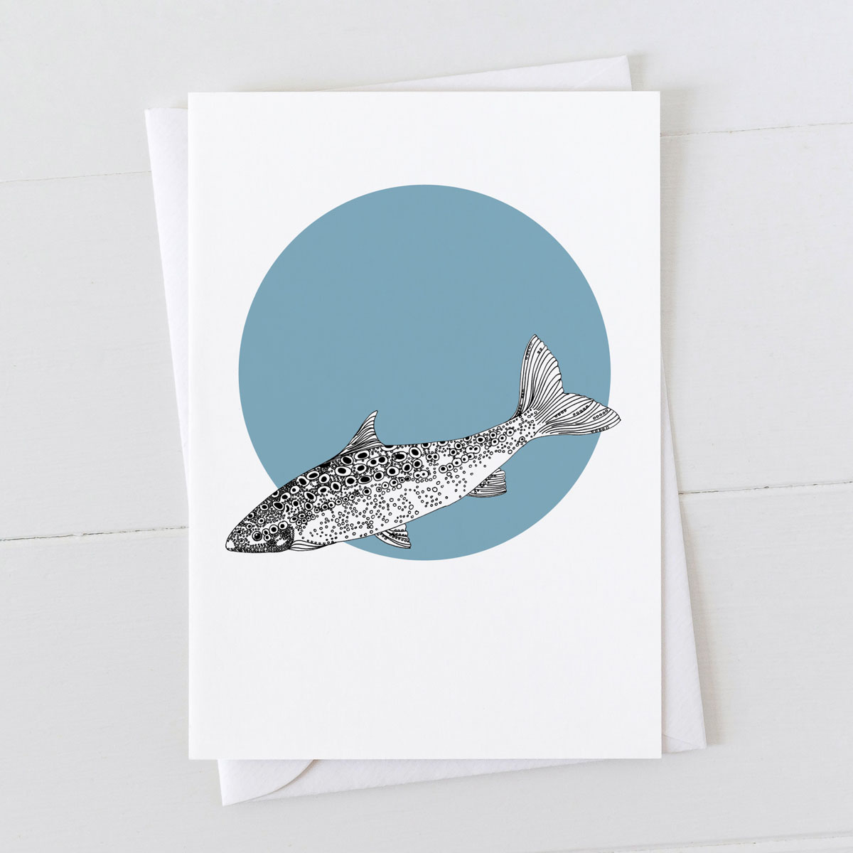 Salmon Spot Greeting Card