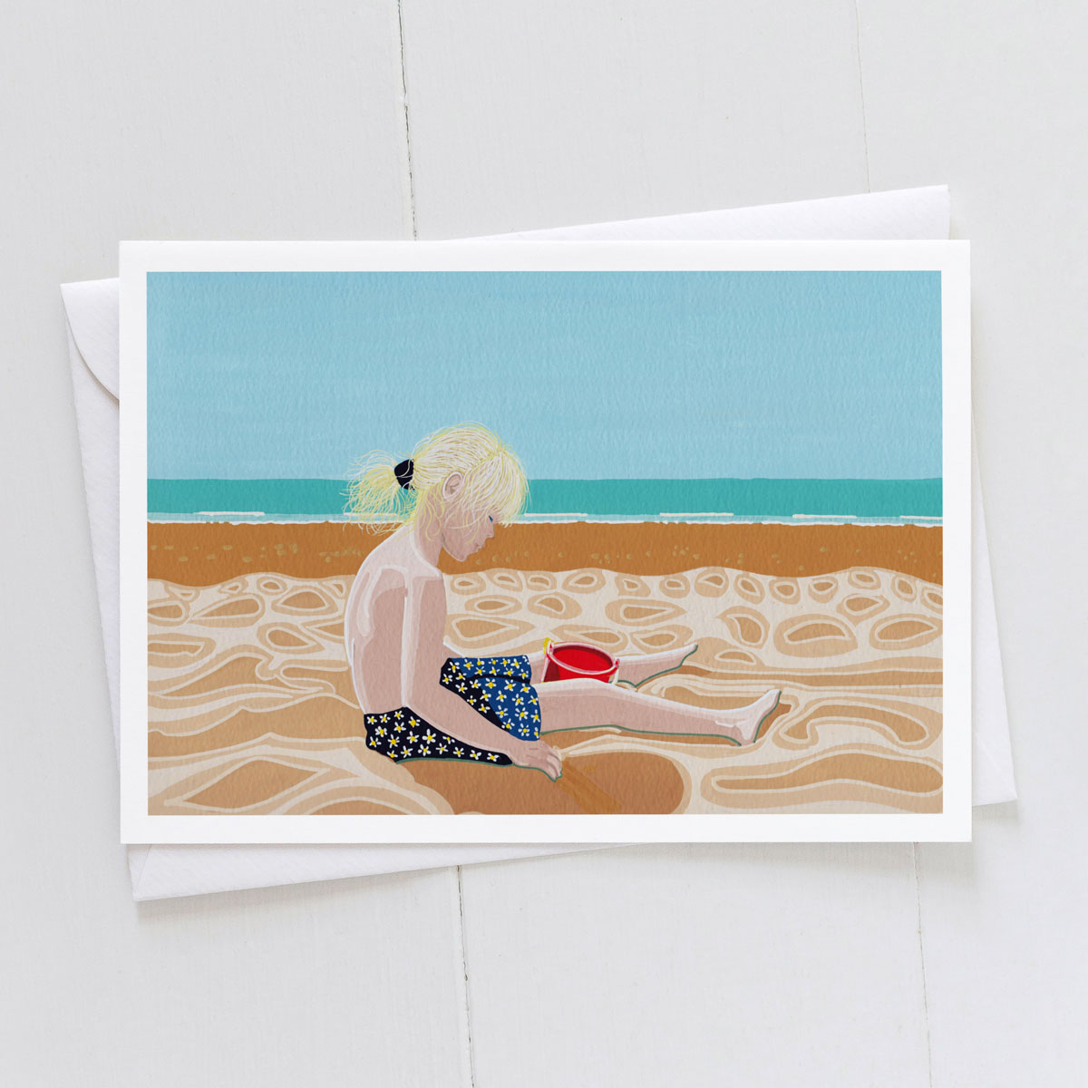 Sand Dunes Childs Beach Holiday Greeting Card