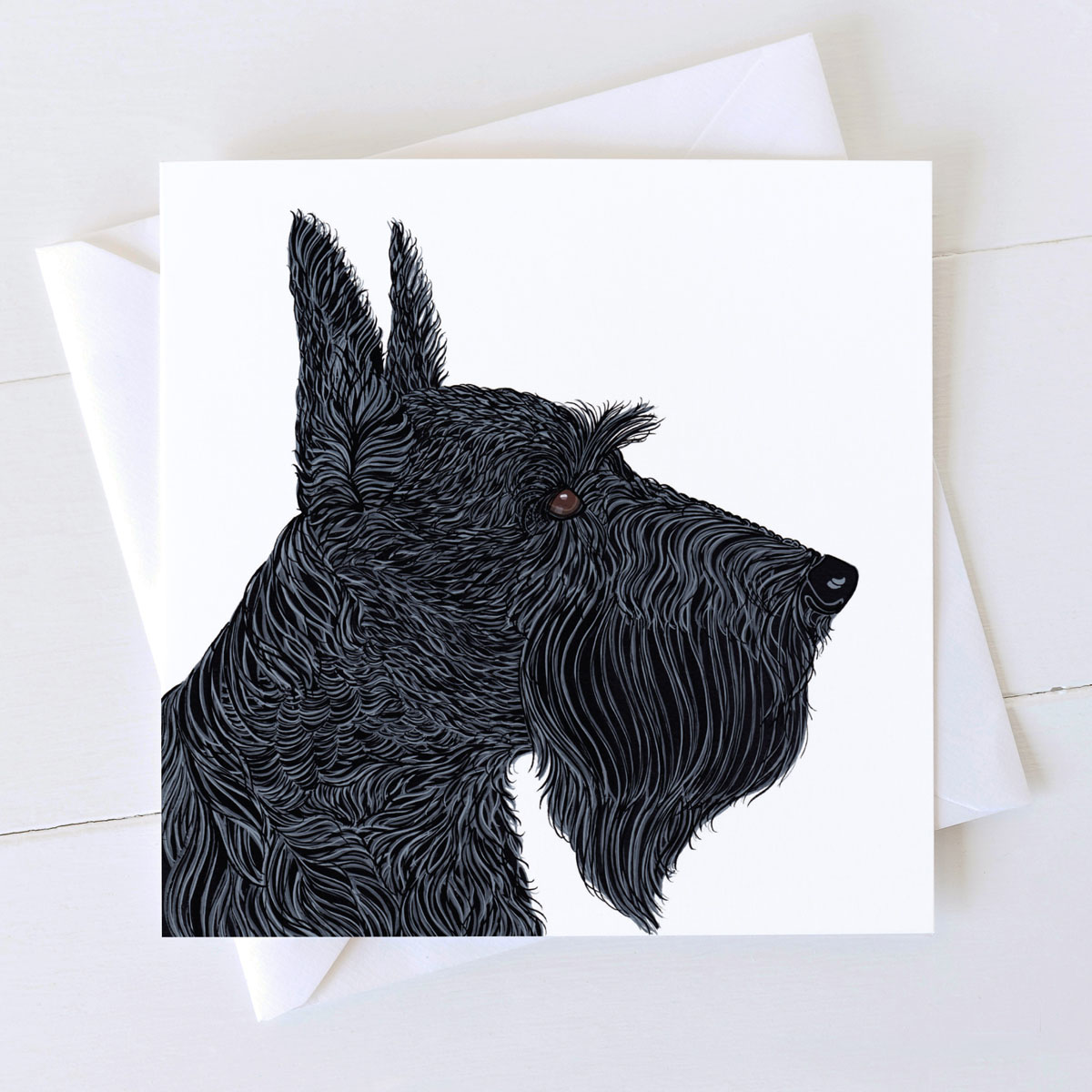 Scottish Terrier Dog Square Greeting Card