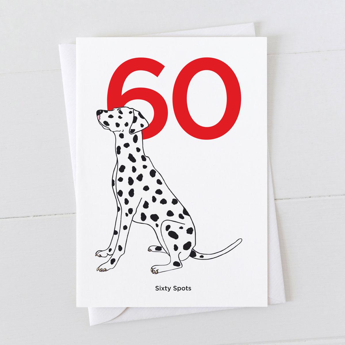 Age Sixty Dalmatian Spot Greeting Card