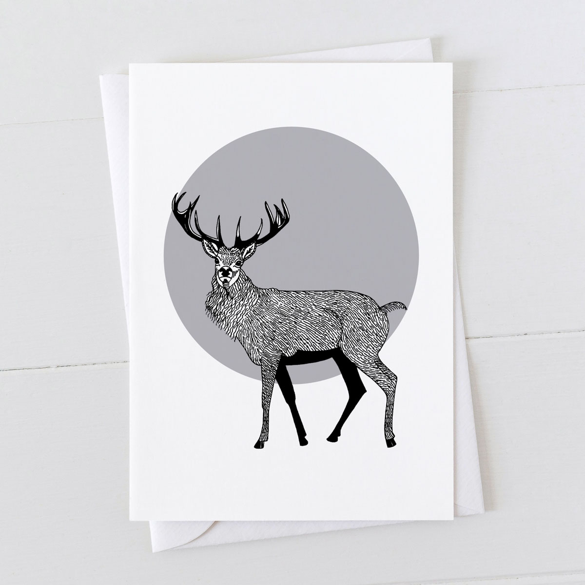 Stag Spot Greeting Card