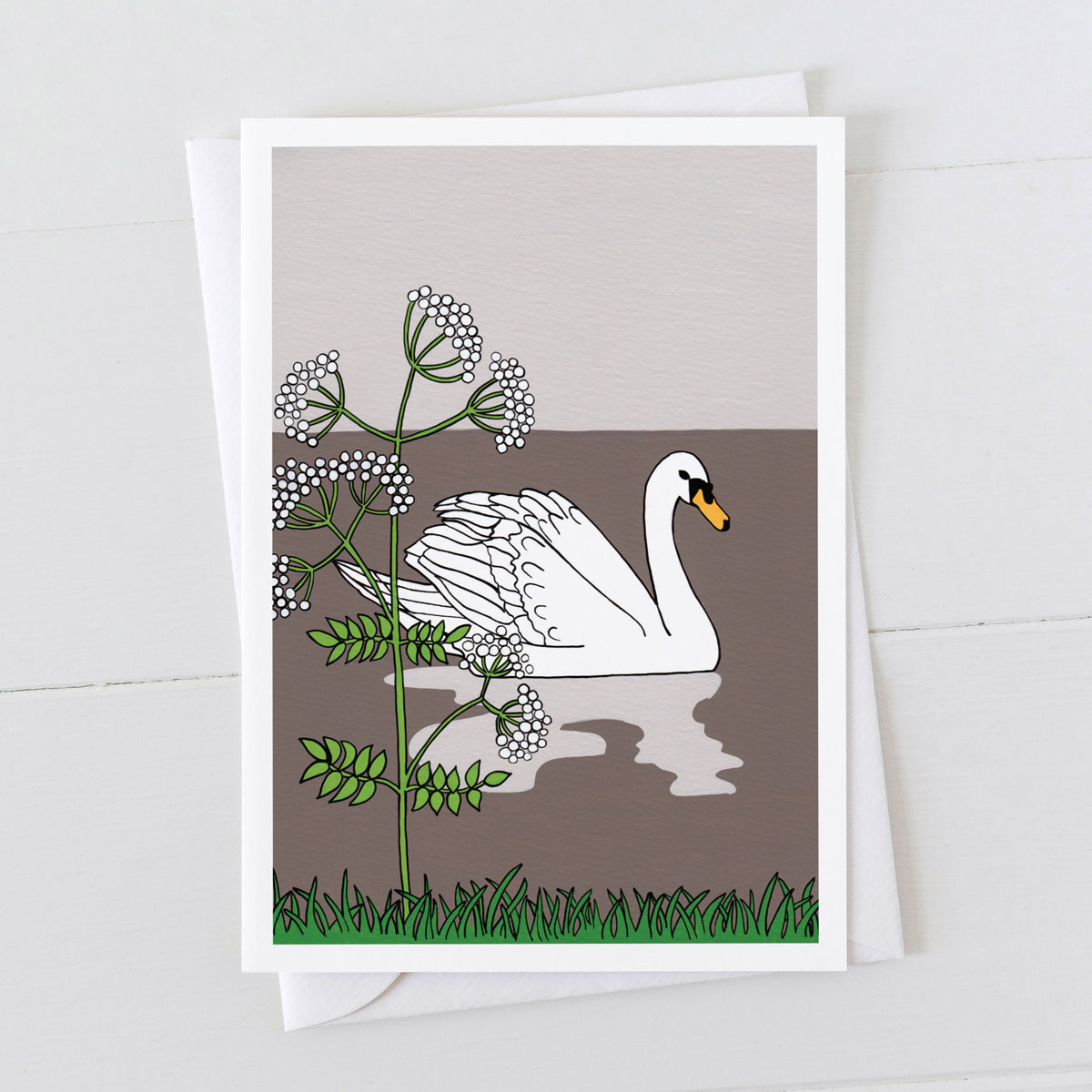 Swan Water Bird Greeting Card