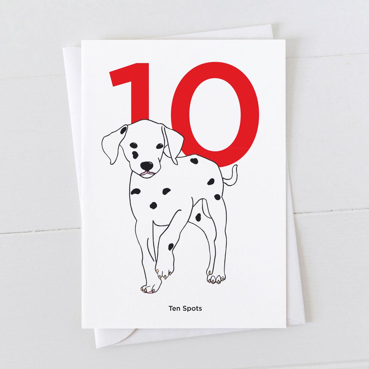 Age Ten Dalmatian Spot Greeting Card