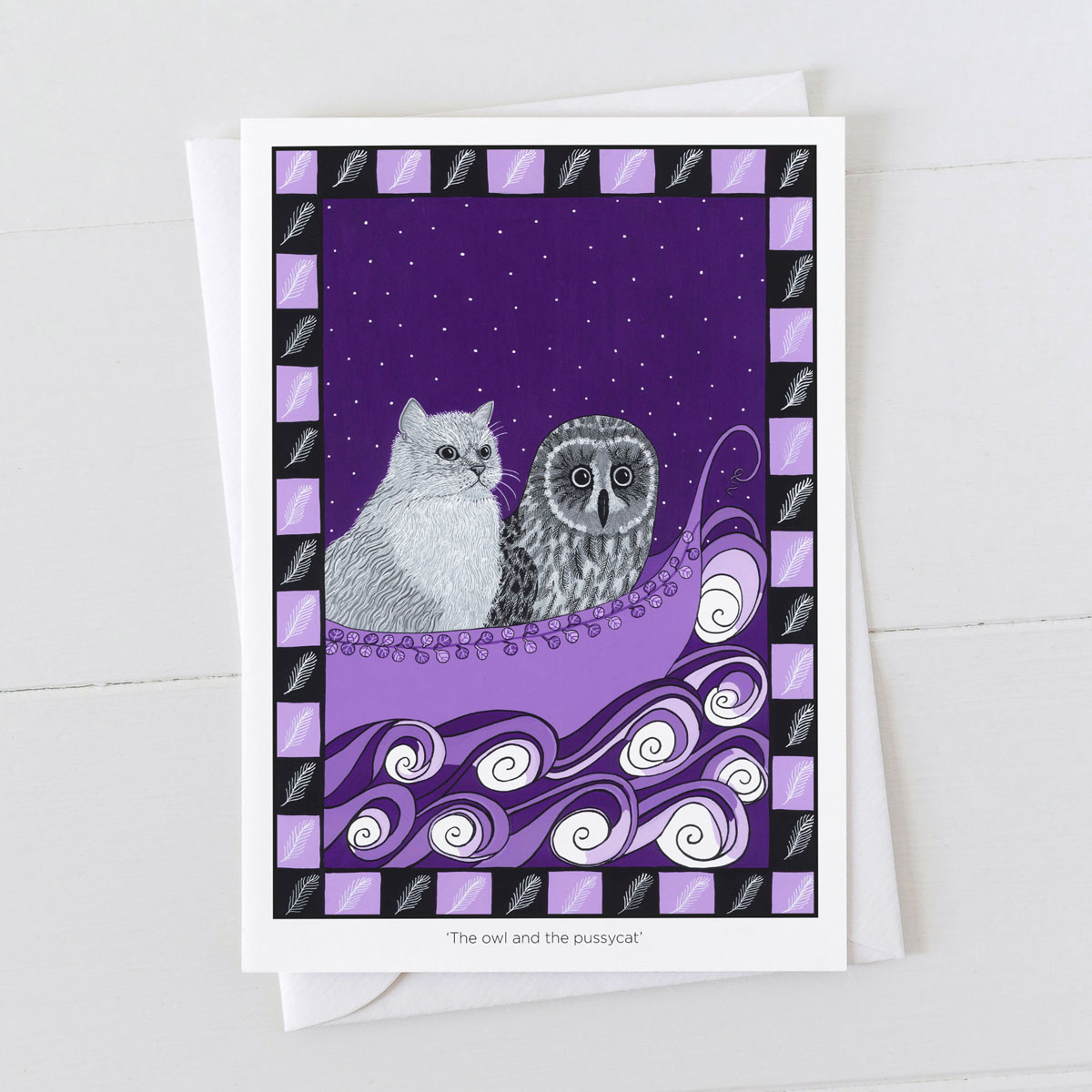 The Owl And The Pussy Cat Nursery Rhyme Greeting Card