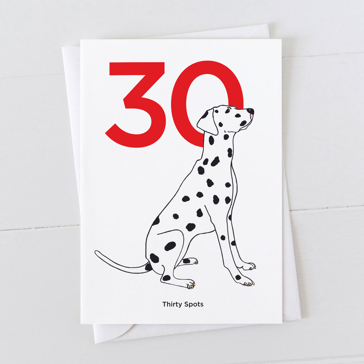 Age Thirty Dalmatian Spot Greeting Card