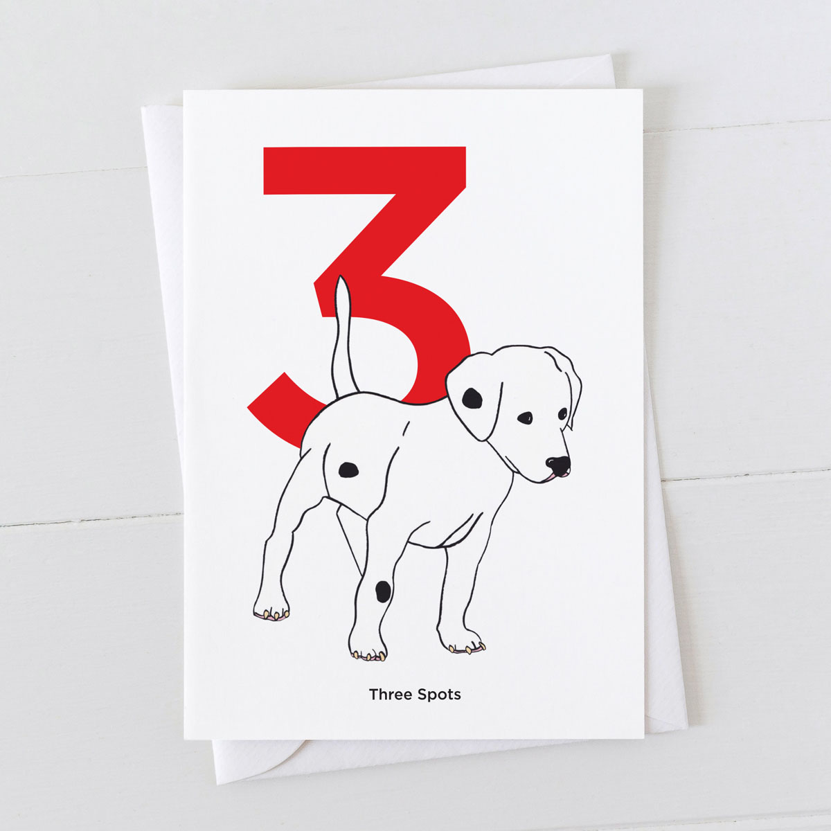 Age Three Dalmatian Spot Greeting Card