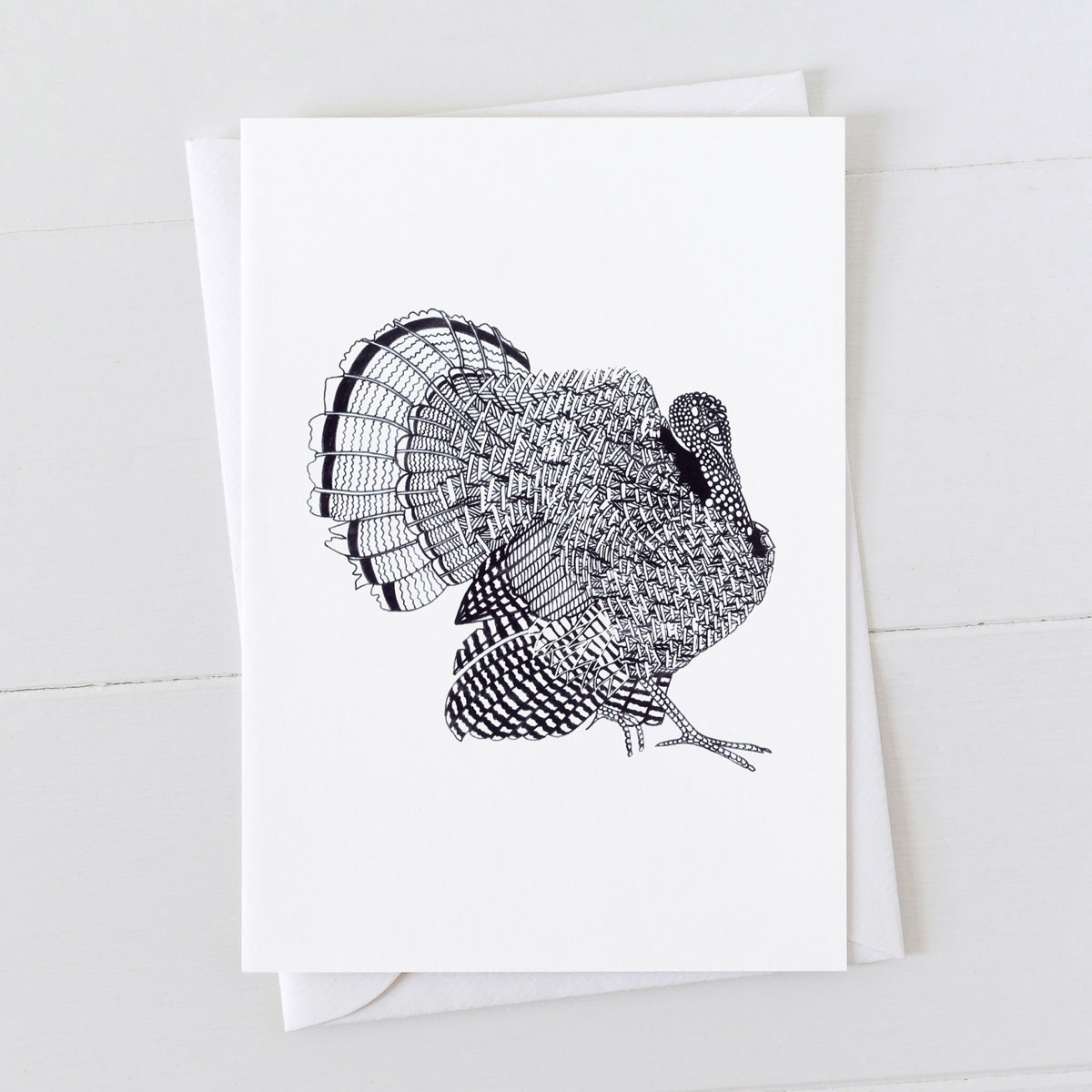 Turkey Pen And Ink Drawing Greeting Card
