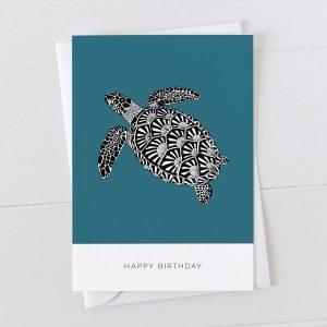 Turtle Happy Birthday Illustration Greeting Card
