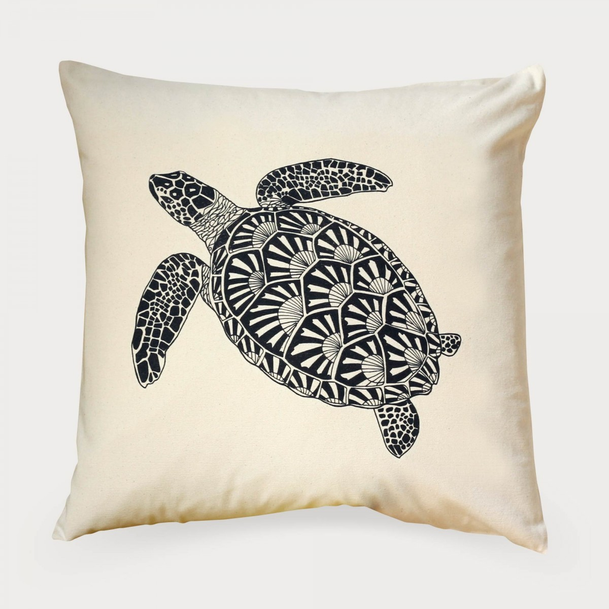 Turtle Print Cushion Cover