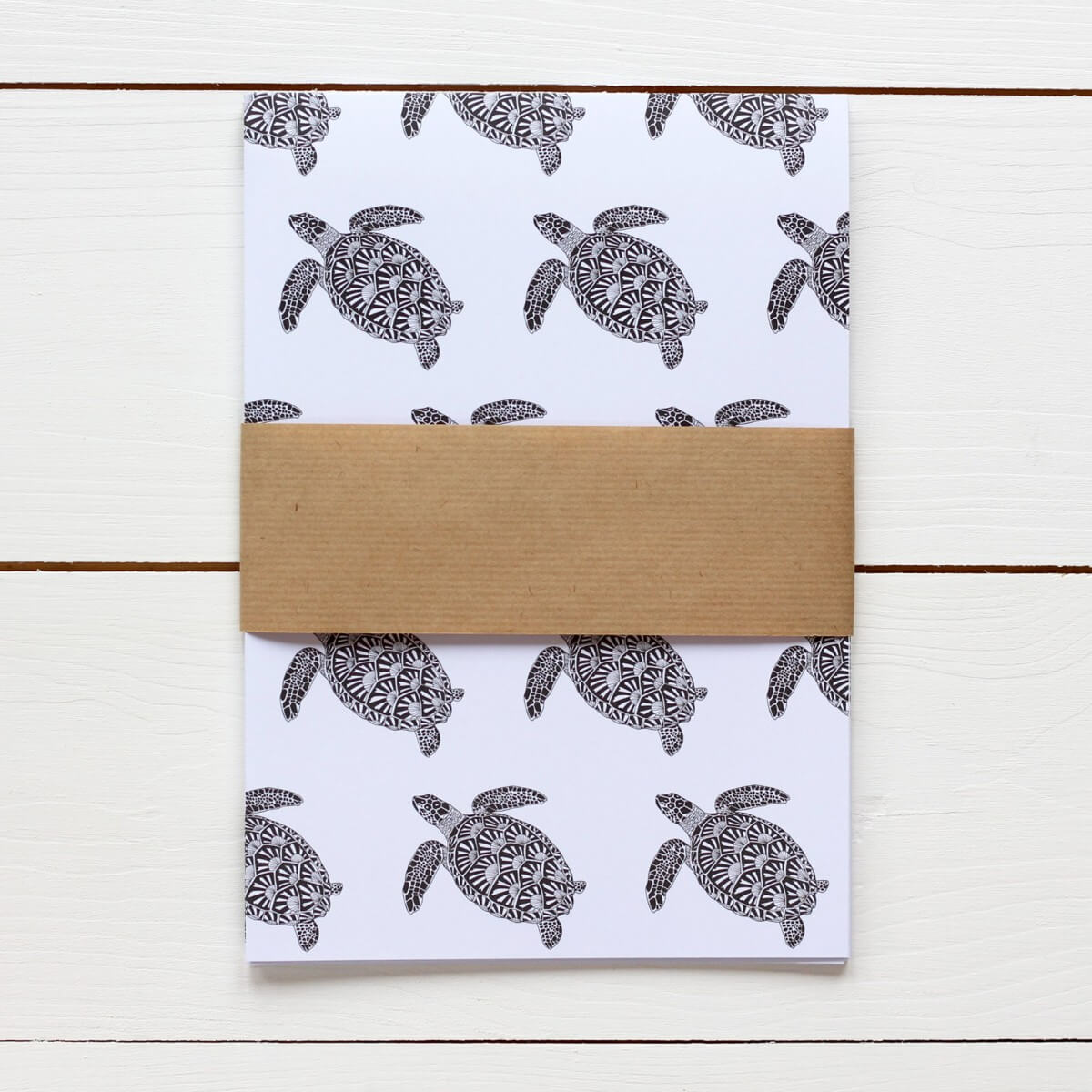 Turtle Print Gift Wrap by Bird the Artist