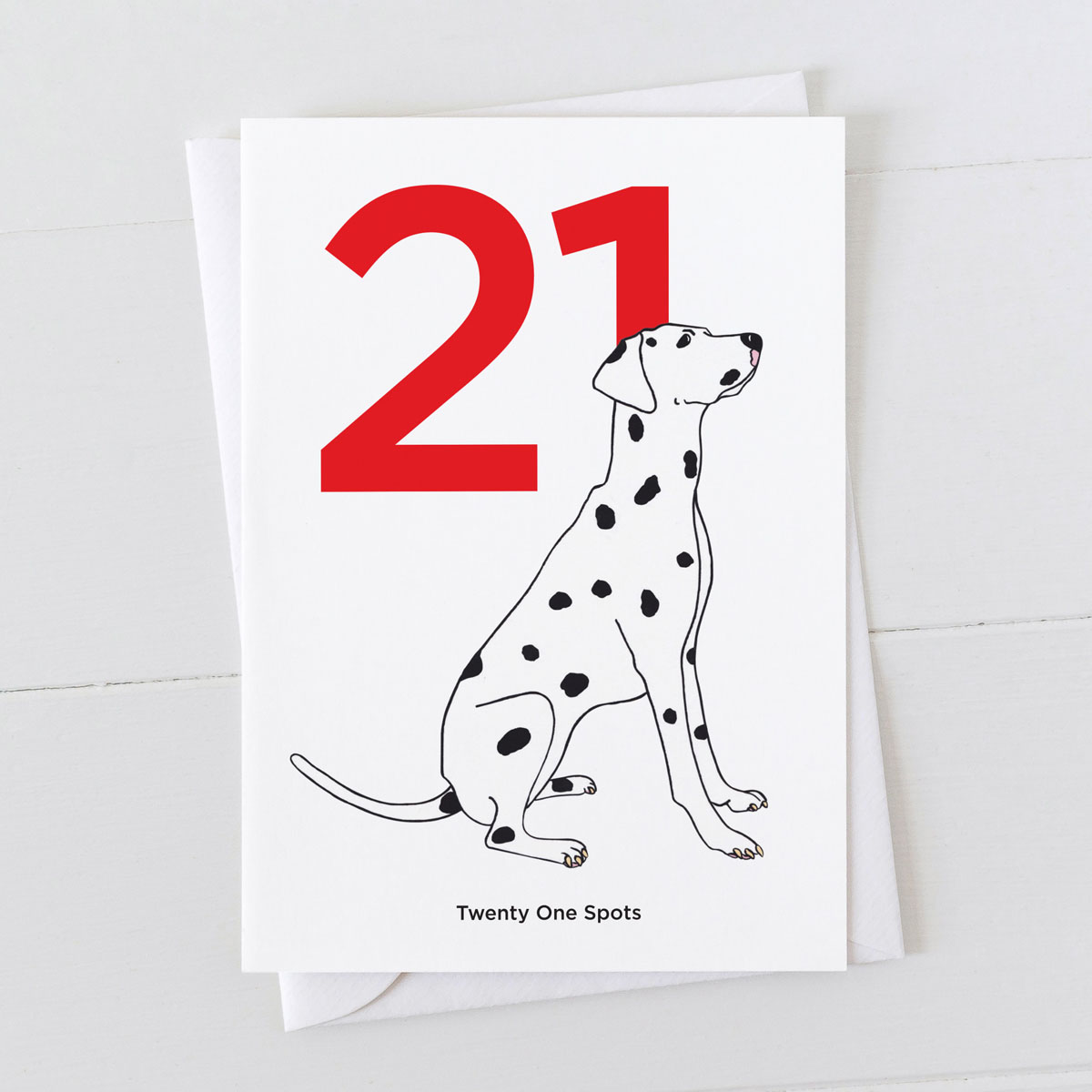 Age Twenty One Dalmatian Spot Greeting Card