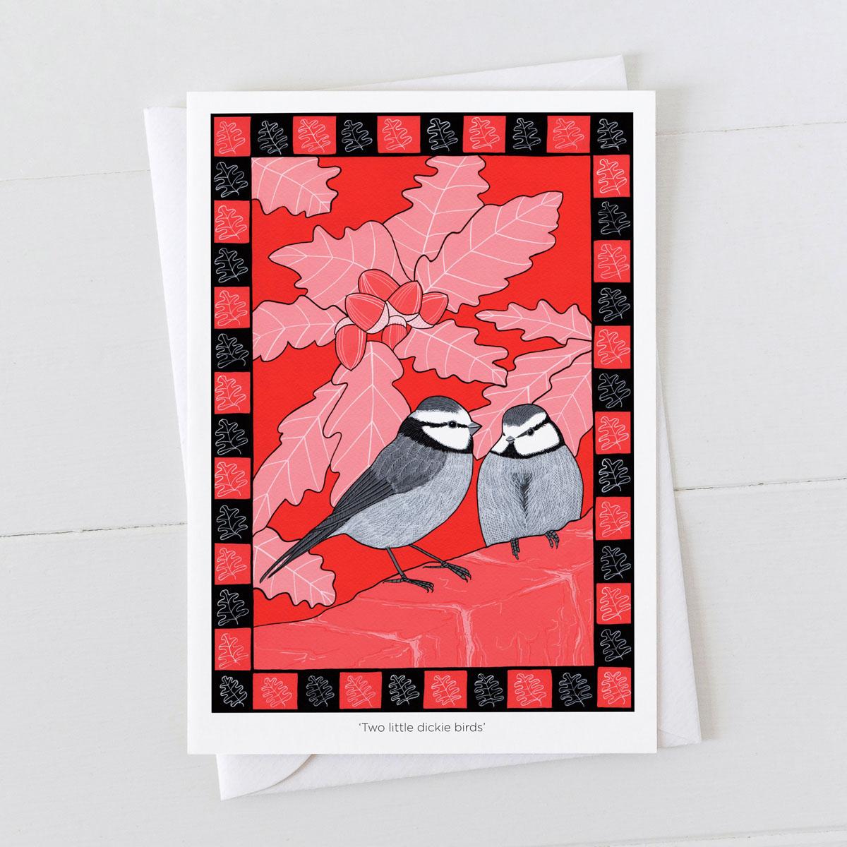 Two Little Dickie Birds Nursery Rhyme Greeting Card