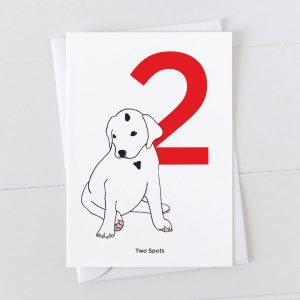 Age Two Dalmatian Spot Greeting Card
