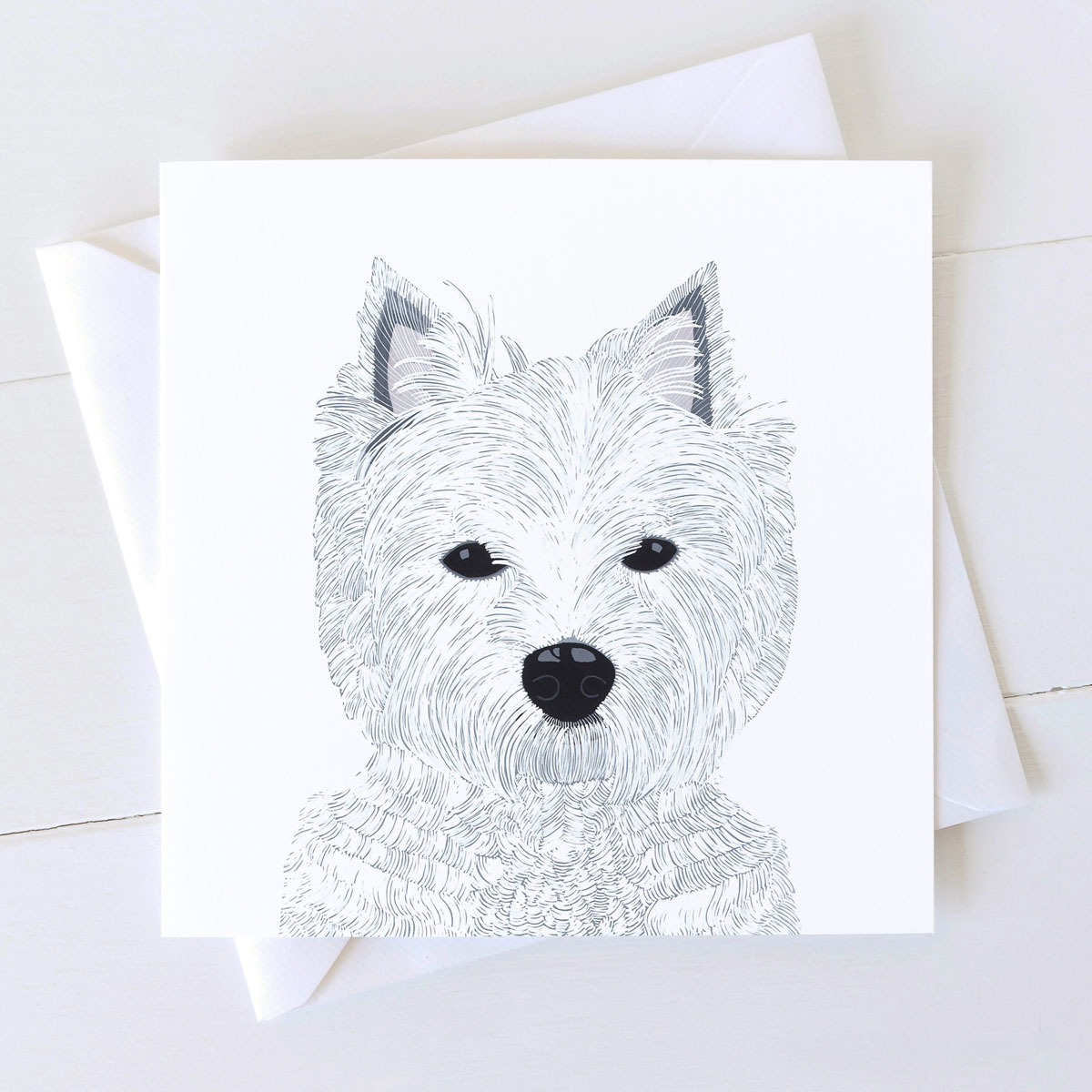 West Highland Terrier Dog Square Greeting Card