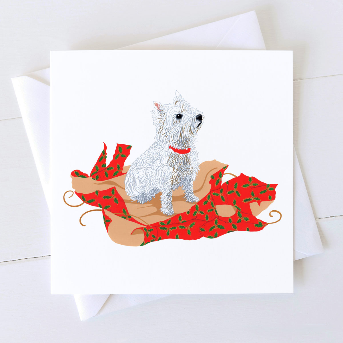 Westie Dog Christmas Card