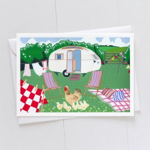 Farm Holiday Caravan Greeting Card