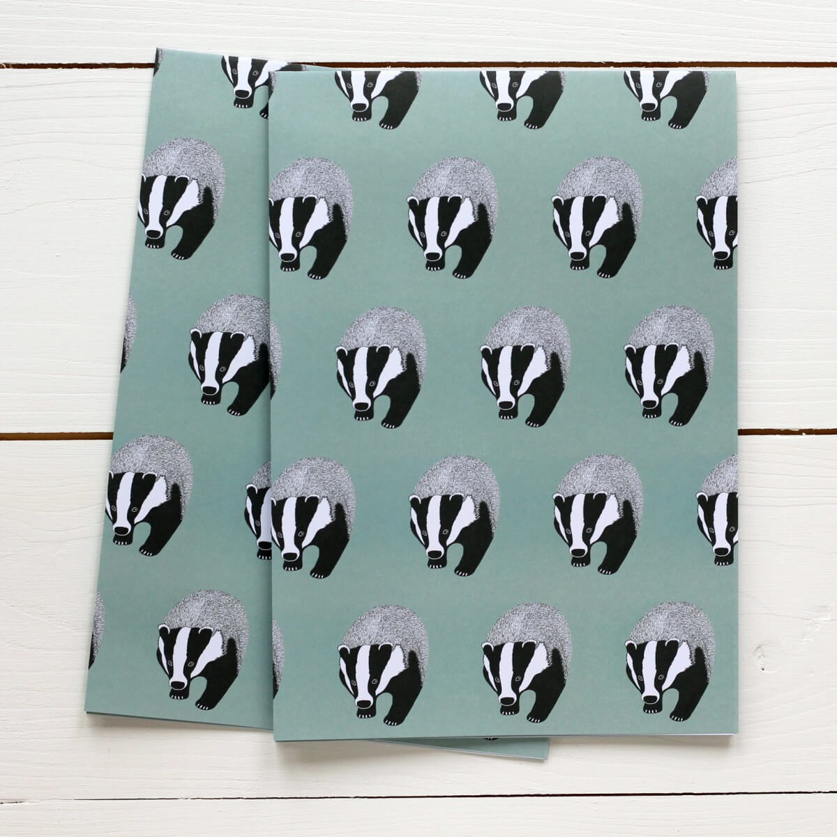 Badger Gift Wrap And Card Set By Bird