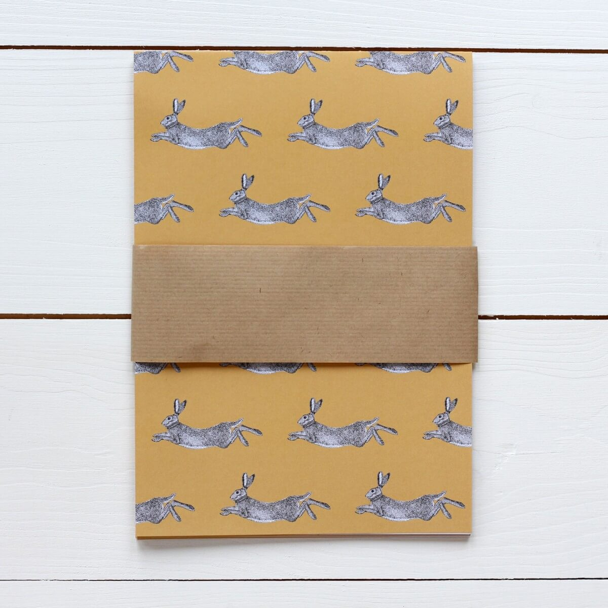 Hare Print Gift Wrap by Bird the Artist