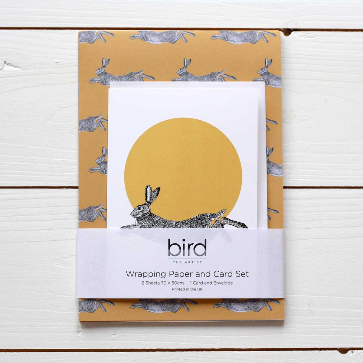Hare Gift Wrap and Card Set