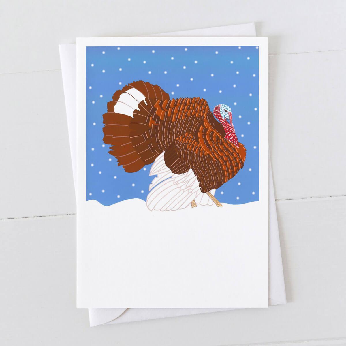 Bourbon Turkey Christmas Greeting Card