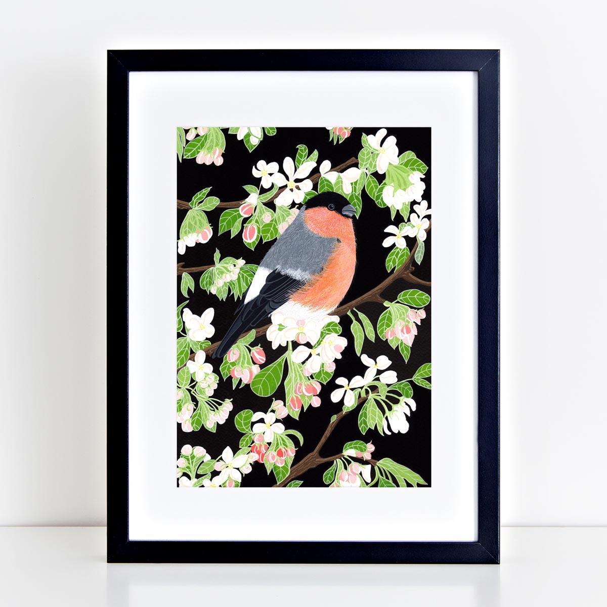 Bullfinch Print by Bird the Artist