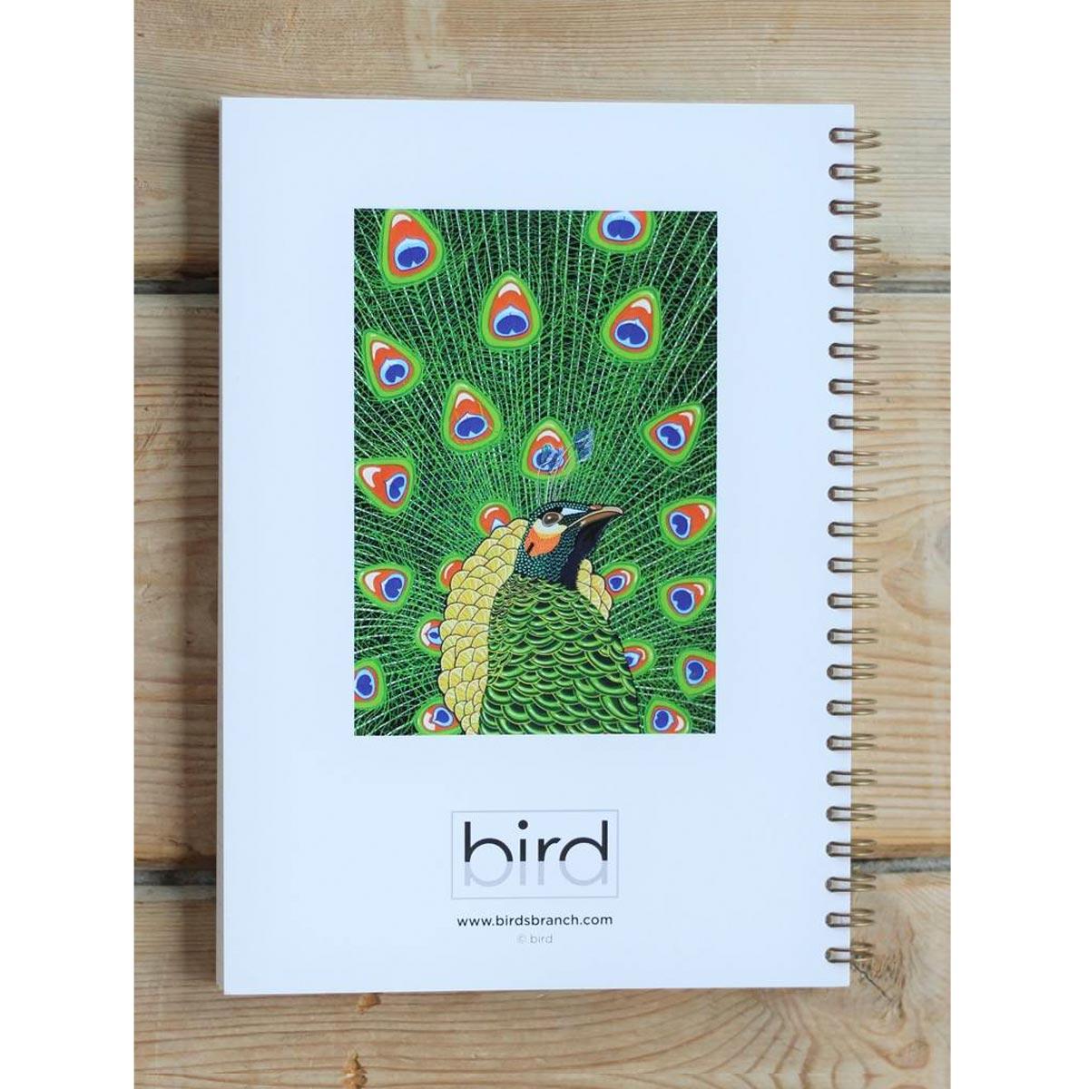 Peacock Notebook Spiral Bound