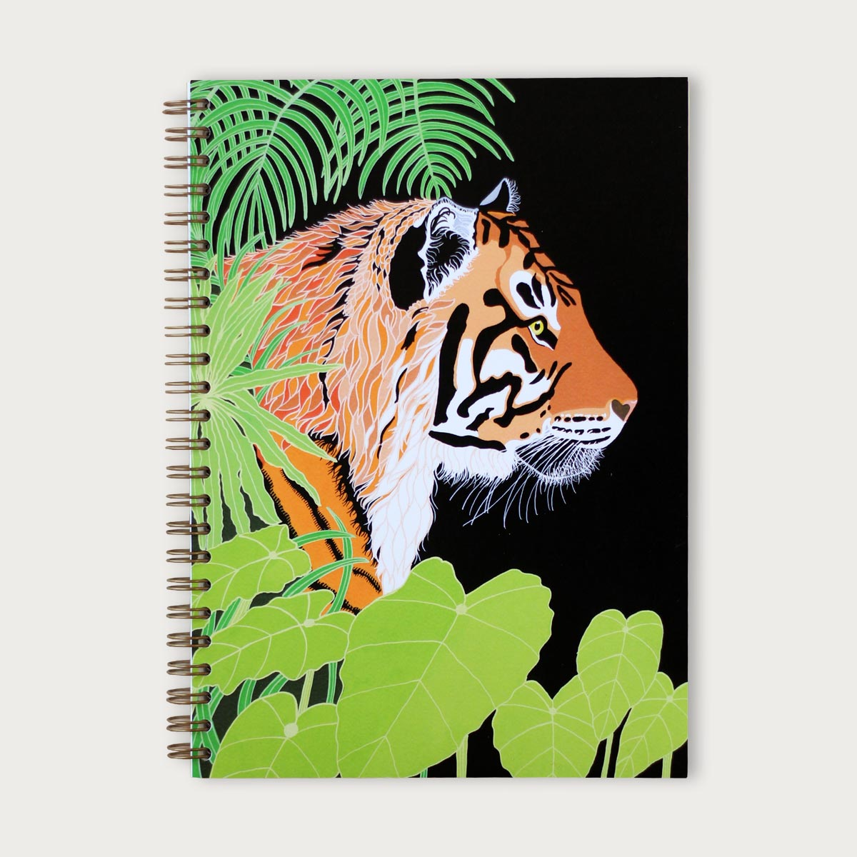 Tiger Painting Notebook Lined Paper