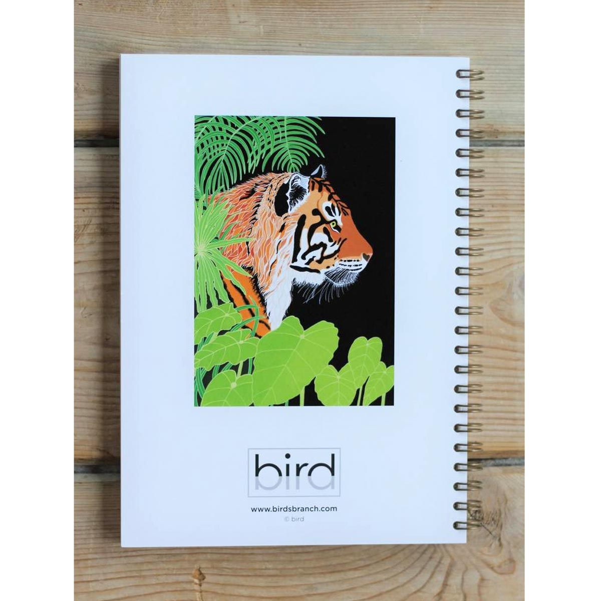 Tiger Print Notebook Back Cover