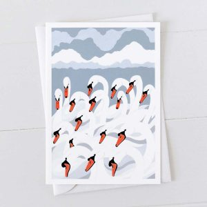 A Bank of Swans Greeting Cards