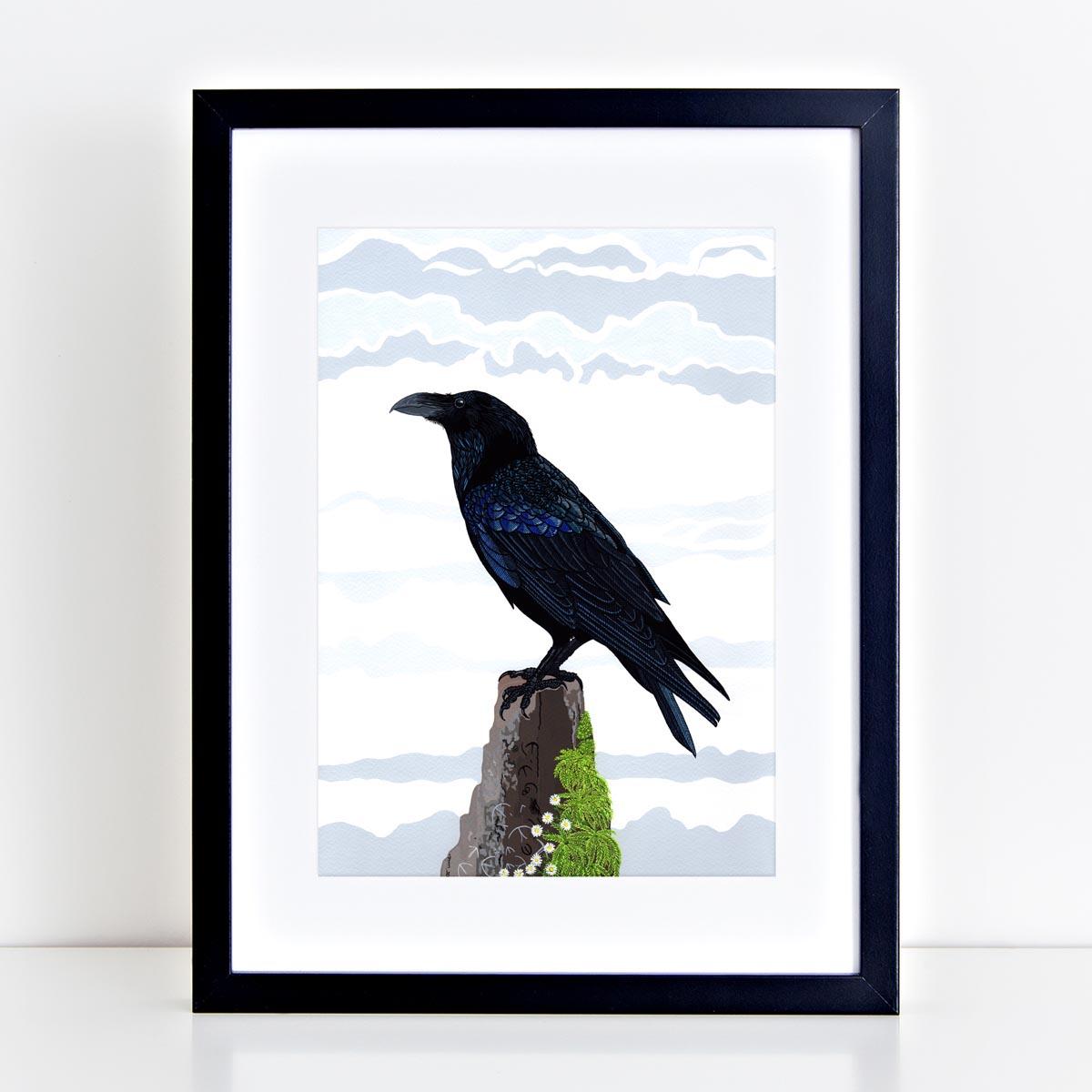 Raven Bird Print by Bird the Artist